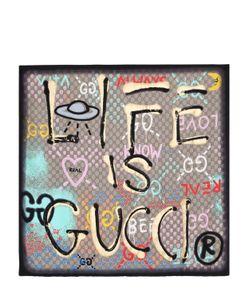 Gucci | Платок Из Шёлковой Саржи С Принтом Life Is