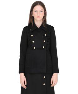 Gucci | Двубортное Шерстяное Пальто С Оборками