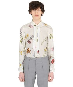 Gucci | Рубашка Из Шёлковой Саржи С Цветочным Принтом
