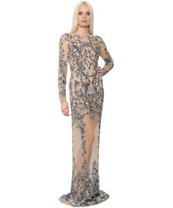 Zuhair Murad | Платье Из Тюля С Вышивкой Цветы И Птицы