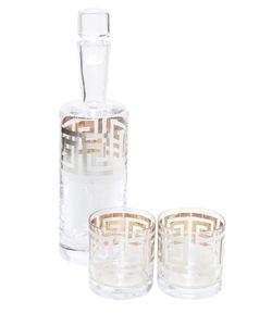 EGIZIA   Графин Для Виски И Два Стакана Meandro