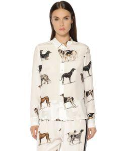 Stella Mccartney | Рубашка Из Шёлкового Крепдешина С Принтом