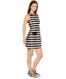 MSGM | Платье Из Хлопкового Твида В Полоску