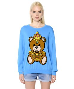Moschino | Хлопковый Свитер С Интарзийным Рисунком Teddy Bear