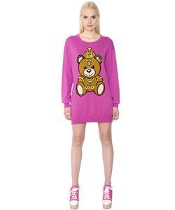 Moschino | Хлопковое Платье С Интарзийным Рисунком Teddy Bear