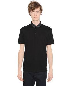 Lanvin | Рубашка-Поло Из Хлопка Пике И Гросгрейн