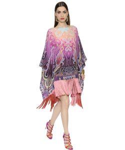 Etro | Платье Из Крепдешина С Принтом