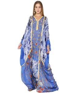 Roberto Cavalli | Платье Из Шёлкового Шифона С Цветочным Принтом
