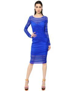 Versace | Платье Из Стретч Тюля