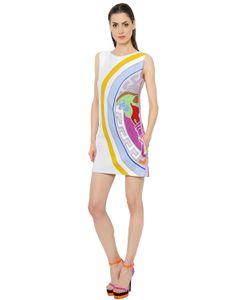 Versace | Платье Из Вискозного Кади С Принтом Medusa