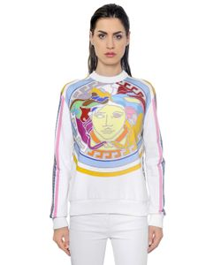 Versace | Свитшот Из Хлопкового Джерси С Принтом Логотипа