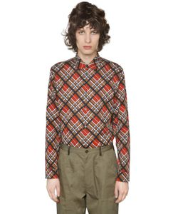 Maison Margiela | Рубашка Из Хлопкового Атласа С Принтом В Клетку