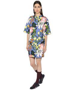 Marni | Платье Из Льна И Хлопка С Цветочным Принтом