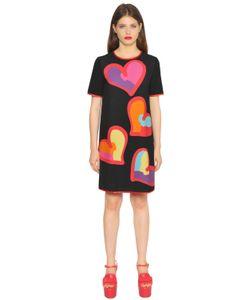 BOUTIQUE MOSCHINO | Платье Из Технокади С Принтом Сердце