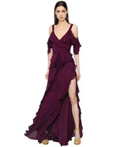 Elie Saab | Платье Из Креп-Жоржета С Оборками
