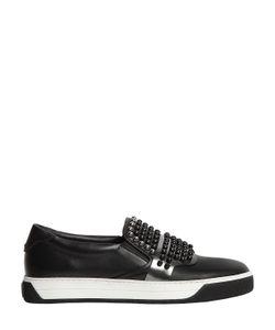 Fendi | Кожаные Кроссовки Без Шнуровки С Заклёпками Karl