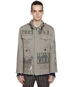 Etro | Куртка Из Канвас С Вышивками