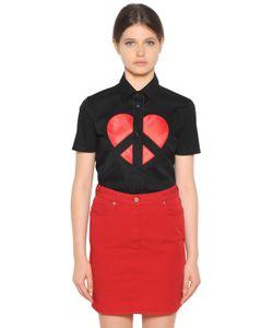 Love Moschino | Рубашка Из Поплин С Вышивкой