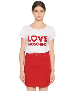 Love Moschino | Футболка Из Хлопкового Джерси