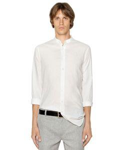 John Varvatos | Рубашка Из Льняного Канвас
