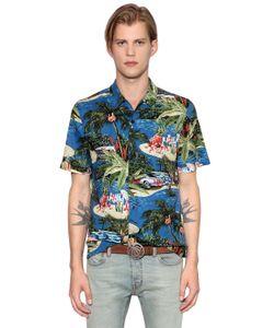 Just Cavalli | Хлопковая Рубашка С Принтом Exotic
