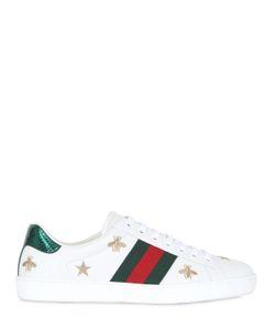 Gucci | Кожаные Кроссовки New Ace С Вышивкой