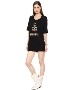 ISABEL MARANT ÉTOILE | Льняное Платье-Футболка С Логотипом