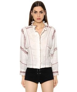 ISABEL MARANT ÉTOILE | Льняная Рубашка С Вышивкой