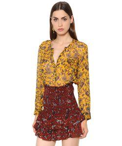 ISABEL MARANT ÉTOILE | Рубашка Из Шёлкового Крепон С Принтом
