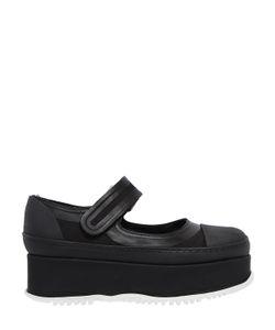 Marni | Туфли Mary Jane На Танкетке Из Канвас И Резины