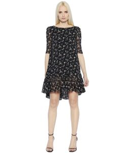 Saint Laurent | Платье Из Шёлкового Жоржета С Принтом Liberty
