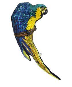 SILKEN FAVOURS   Подушка Peter The Parrot Из Хлопка И Шёлка