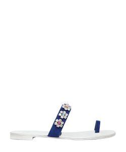 Giuseppe Zanotti Design | Замшевые Сандалии С Цветочной Вышивкой 10mm