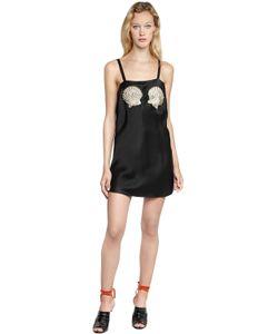 ATTICO | Платье Sabrina Из Шёлкового Атласа С Вышивкой