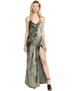 ATTICO | Бархатное Платье Letizia