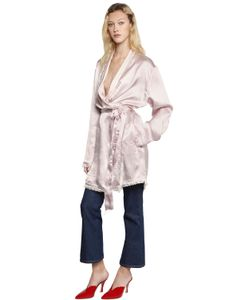 ATTICO | Куртка Fernanda Из Плотного Шёлкового Атласа