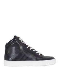 ETTORE BUGATTI COLLECTION | Perforated Leather High Top Sneakers