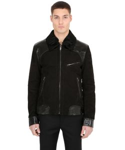ETTORE BUGATTI COLLECTION | Nubuck Embossed Leather Biker Jacket