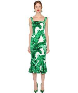 Dolce & Gabbana | Платье Из Стретч Шёлка Шармез С Принтом