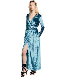 ATTICO | Raquel Velvet Wrap Gown