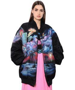Marc Jacobs | Куртка-Бомбер Из Нейлона С Принтом
