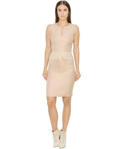 Akris | Платье Из Хлопковой Саржи И Органзы С Баской