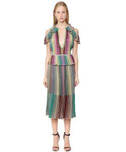 Missoni | Трикотажное Платье С Люрексом И Оборками
