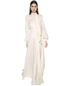 Lanvin | Платье Из Шёлкового Кади С Бантом