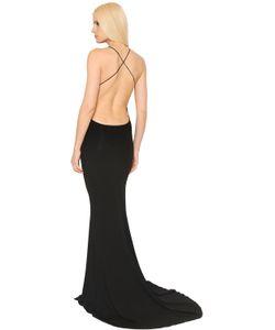 Alexandre Vauthier   Платье Из Стретч Джерси С Открытой Спиной