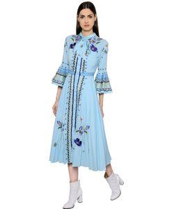 Temperley London | Платье Из Хлопкового Газа С Цветочной Вышивкой