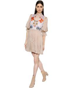 Temperley London | Платье Из Кружева И Шифона С Цветочной Вышивкой