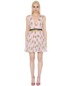 GIAMBA | Платье Из Кружева И Жоржета С Принтом