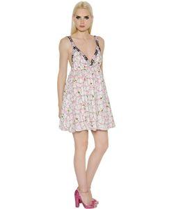 GIAMBA | Платье Из Тюля С Цветочной Вышивкой