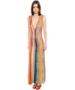 Missoni | Платье Из Трикотажа И Ламé В Полоску